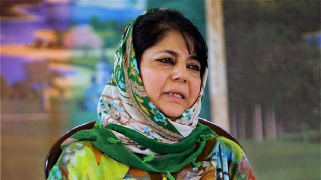 The Peoples Democratic Party of Mehbooba Mufti is set to get another jolt with two former ministers likely to quit tomorrow (File Photo)(PTI)