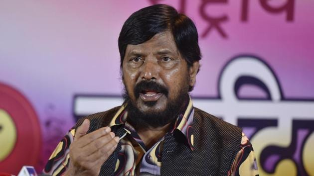 Minister of State for Social Justice and Empowerment Ramdas Athawale has said that Rs 15 lakh in ever account promise will be kept(Pratham Gokhale/HT file photo)