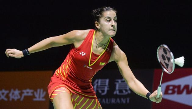 File picture of Carolina Marin(AFP)