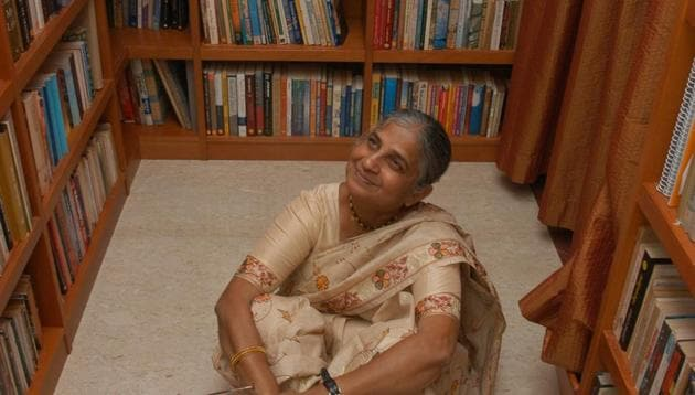 Sudha Murthy released her 30th book, The Upside Down King in Mumbai recently.(Getty Images)