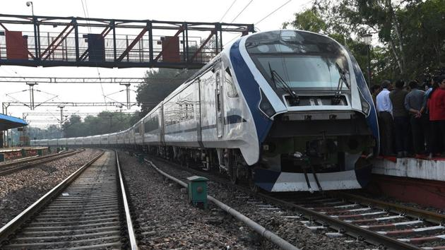 A view of 18 at Safdarjung station, during its trial run in New Delhi in November.(Mohd Zakir/HT file photo)
