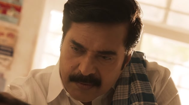 Mammootty stars as the late YSR in a still from Yatra.
