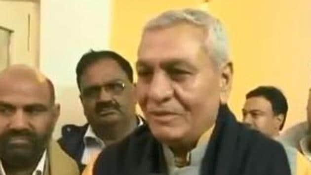 UP minister Chaudhary Lakshmi Narayan says Lord Hanuman was similar to a Jat.(ANI Photo/Twitter)