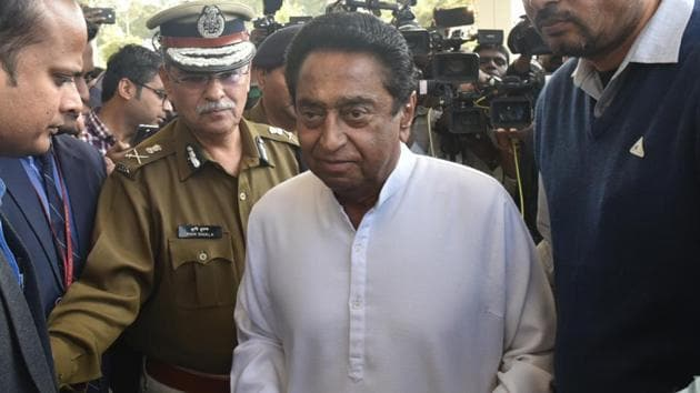 In a major reshuffle in Madhya Pradesh's administrative services, newly-appointed chief minister Kamal Nath shifted 42 officers, 23 of whom were district magistrates.(Mujeeb Faruqui/HT Photo)