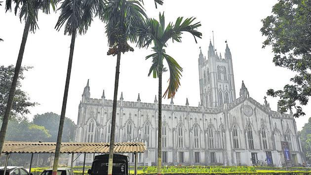 St Paul's Cathedral, Kolkata. In 2019, it will be 180 years since work on the cathedral began, in 1839.(Arijit Sen/HT Photo)