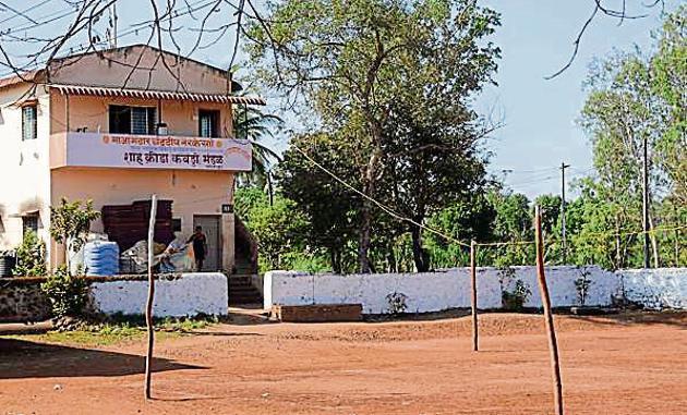 Sahoo Krida Mandal in Sadoli Khalsa in Kolhapur, where two Pro Kabadi League stars trained.(Milind Saurkar/HT Photo)
