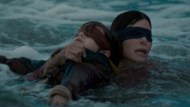 Sandra Bullock stars in Susanne Bier's Bird Box, for Netflix.(Saeed Adyani/Netflix)