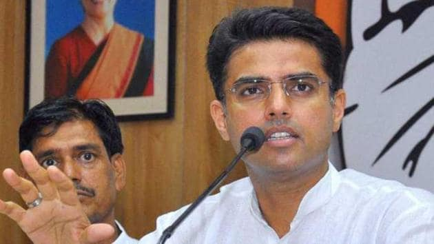 Rajasthan deputy chief minister Sachin Pilot claimed that the BJP is under pressure as its allies are deserting the coalition.(PTI)
