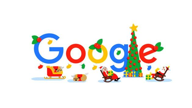 Google wishes Happy holidays to all with an animated doodle on Christmas day, December 25(Google.com)