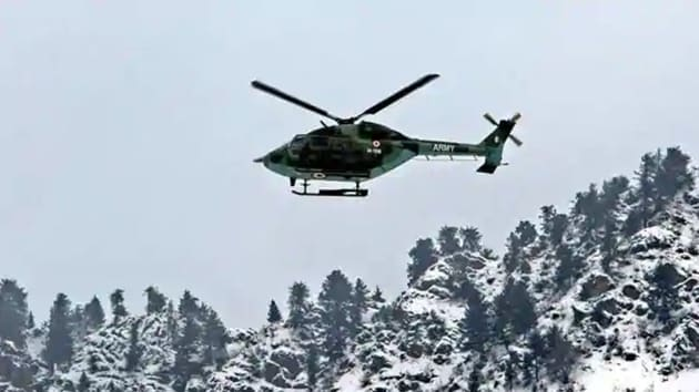 The Indian Army has created a world record of sorts as its pilots and technicians successfully recovered a helicopter which was stuck in snow at an altitude of 18,000 feet at Siachen Glacier in Jammu and Kashmir.(PTI/Representative Image)