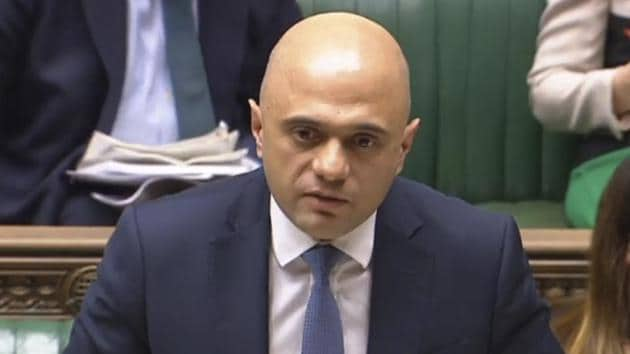 Britain's Home Secretary Sajid Javid makes a statement to the House of Commons, about the proposals in the Government's immigration White Paper on December 19.(AP Photo)