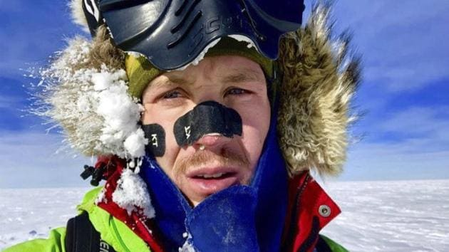 Colin O'Brady, of Portland., Ore., in Antarctica. He has become the first person to traverse Antarctica alone without any assistance. O'Brady finished the 932-mile (1,500-kilometer) journey across the continent in 54 days, lugging his supplies on a sled as he skied in bone-chilling temperatures.(AP Photo)