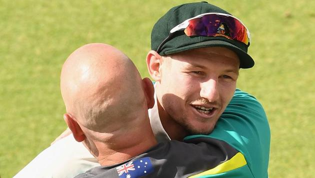 File picture of Cameron Bancroft and Darren Lehmann(Getty Images)