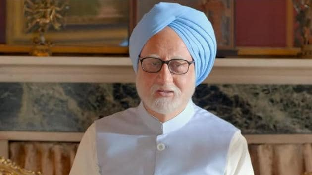 As the Congress and Bharatiya Janata Party traded barbs over biopic The Accidental Prime Minister, Anupam Kher – who plays the role of Dr. Manmohan Singh – said 'we can't change history', reports news agency ANI.(Pen Movies/YouTube screengrab)