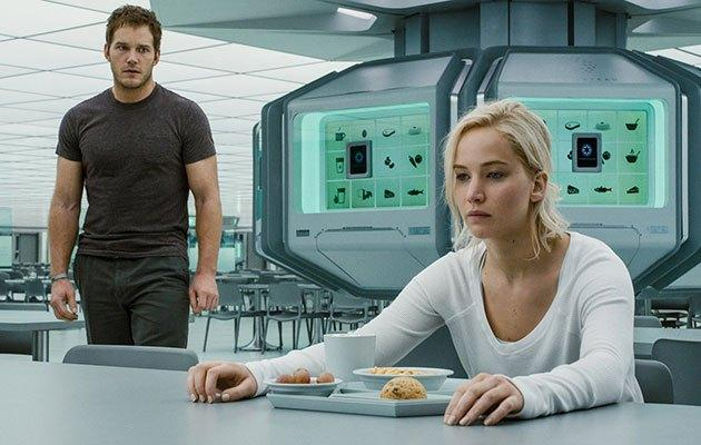 Machines in Passengers produced meals at the press of a button. She doesn't look happy, but at least she doesn't have to cook.