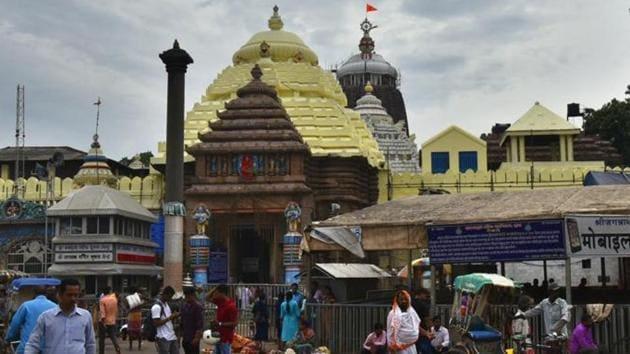 A view of the Jagannath Temple in Puri.(HT File Photo/Raj K Raj)