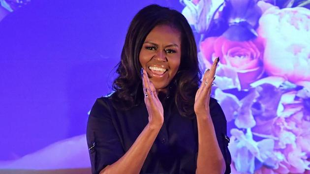"""Fifteen percent of the 1,025 Americans polled said the woman they admire most is Former US first lady Michelle Obama, who is currently on a tour promoting her book """"Becoming.""""(AFP)"""