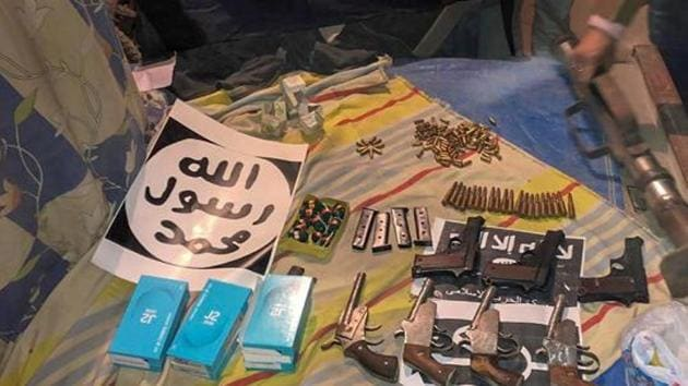 The primitive nature of the weapons that have been seized from the ISIS-inspired terror module has invited ridicule on the social media(PTI)