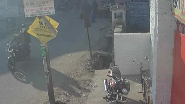 CCTV grab of the accused before the crime(sourced)