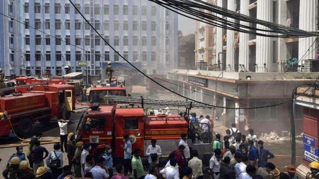 A fire broke out in a premier state-run Calcutta Medical College and Hospital in West Bengal capital Kolkata early on Monday.(PTI)