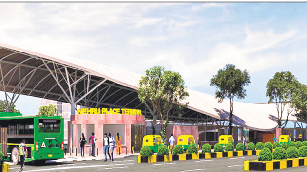 An artist's impression of revamped Nehru Place bus terminal.(Sourced)