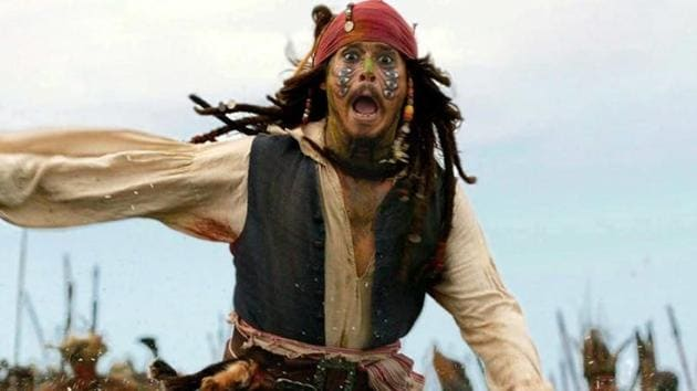 Johnny Depp has played Jack Sparrow in five films.