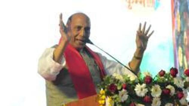 Union home minister Rajnath Singh on Thursday said the Centre has no problem if the elections are held in Jammu and Kashmir(HT File Photo)