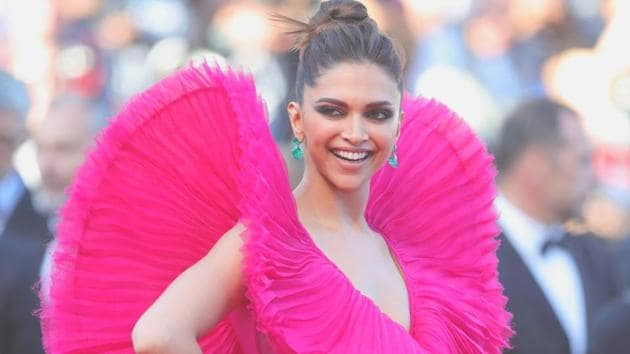 Deepika Padukone has hit the Cannes red carpet in some bold dresses, including this larger-than-life pink gown by Ashi Studio. (Instagram)