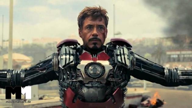 Robert Downey Jr as Tony Stark in a still from Iron Man 2.