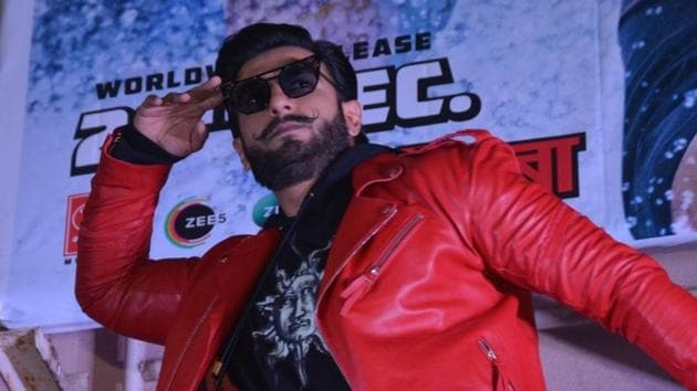 Actor Ranveer Singh at Gaiety Galaxy in Mumbai's Bandra ahead of the film's release.(IANS)