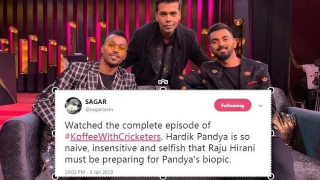 Hardik Pandya and KL Rahul were the latest to guest star on Koffee With Karan.