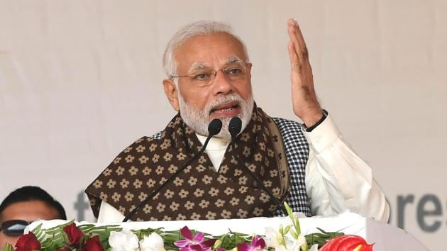 Prime Minister Narendra Modi addressing a public rally, in Ghazipur on December 29.(File Photo)
