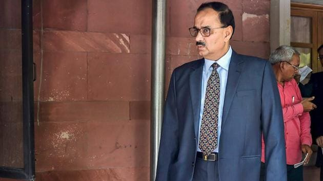 Central Bureau of Investigation Chief Alok Verma at Supreme Court in New Delhi on July 30.(PTI Photo)