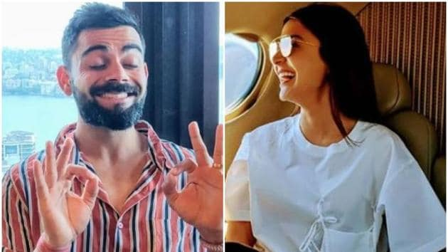 Anushka Sharma and Virat Kohli shared these pictures on their Instagram pages.(Instagram)