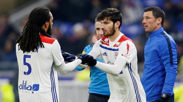File image of Lyon players.(REUTERS)