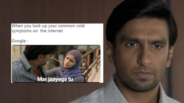 Ranveer Singh, Alia Bhatt's Gully Boy has inspired memes online.