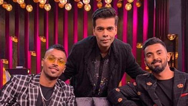 Hardik Pandya and KL Rahul with Karan Johar on Koffee With Karan.