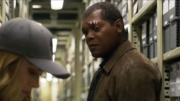 Samuel L Jackson will be seen with Brie Larson in Captain Marvel.