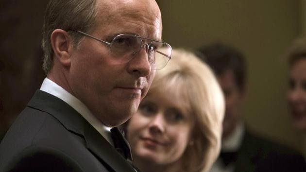 This image released by Annapurna Pictures shows Christian Bale as Dick Cheney, left, and Amy Adams as Lynne Cheney in a scene from Vice.(AP)