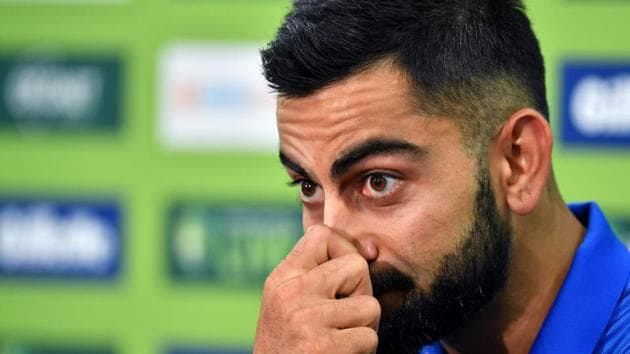 India's cricket team captain Virat Kohli attends a press conference ahead of the first One Day International (ODI) match between India and Australia at the Sydney Cricket Ground in Sydney(AFP)