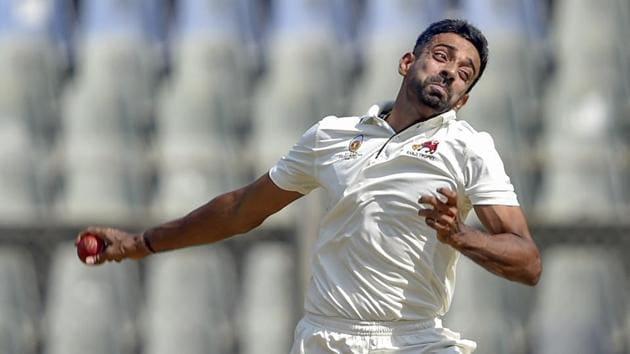 File image of Mumbai player Dhawal Kulkarni bowling during a Ranji Trophy match.(AP)