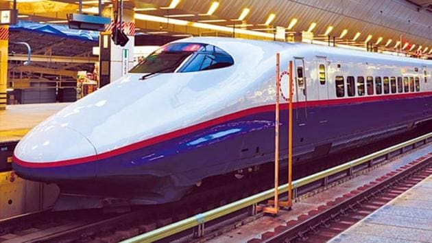 The introduction of the country's first bullet train, known as the Shinkansen in Japan and expected to be operational in 2022, will mark India's shift to an era of high-speed trains capable of hitting speeds of up to 350 kilometres per hour.(Representative image)