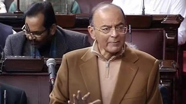 """Union minister and senior BJP leader Arun Jaitley on Saturday asked the party workers to build the narrative of the Lok Sabha polls campaign around Prime Minister Narendra Modi's """"matchless"""" leadership .(PTI)"""