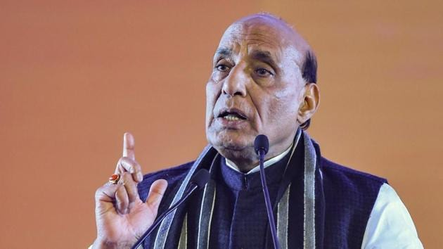 Union minister Rajnath Singh in New Delhi on January 11.(PTI Photo)