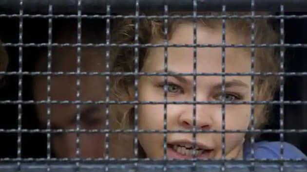Anastasia Vashukevich, known by her pen name Nastya Rybka, has been held in custody since a police raid in the sleazy seaside resort of Pattaya last February.(AP Photo)