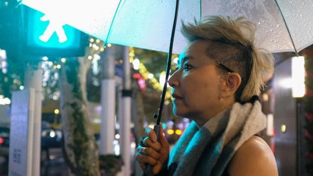 <p>56-year-old Chinese model Ma Yinhong poses for a portrait in downtown Shanghai. Ma is one of a growing number of older models sought after by Chinese and...