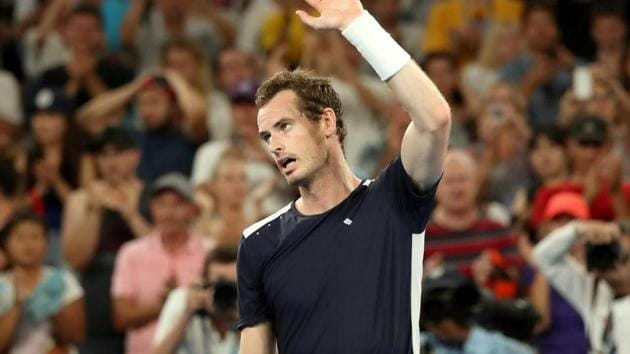 Britain's Andy Murray waves to the crowd after losing his first round Australian Open match.(Reuters)