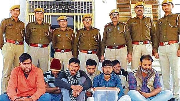 Praveen Rajpurohit and his gang were arrested on Tuesday after carrying out the theft on January 5, according to police.(HT Photo)