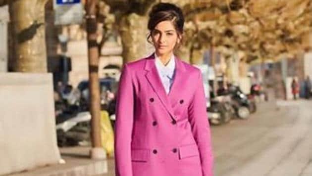 Sonam Kapoor fails to impress in Calvin Klein pantsuit. See latest pics