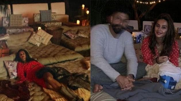 Farhan Akhtars gorgeous birthday party with girlfriend Shibani Dandekar
